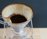 Ręka kapinosa kawa Zdjęcia Royalty Free