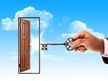 ręka klucz Fotografia Royalty Free
