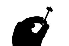 ręka klucz Zdjęcie Stock