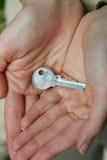 ręka klucz obraz stock