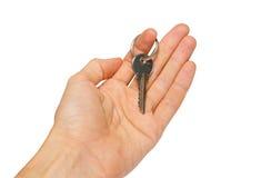 ręka klucza srebro Zdjęcie Royalty Free