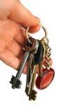 ręka klucze Obraz Stock