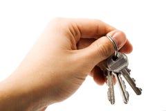 ręka klucze Zdjęcie Stock