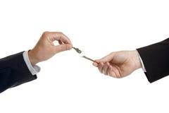 ręka klucze Zdjęcia Stock