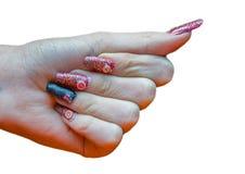 ręka kobiety manicure obraz royalty free
