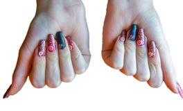 ręka kobiety manicure fotografia royalty free