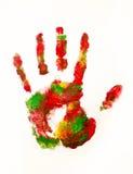 ręka kolorowy druk Obraz Stock