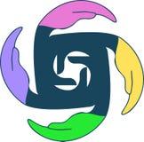 Ręka logo Obraz Royalty Free
