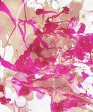 R?ka maluj?cy abstrakcjonistyczny t?o z farb plu?ni?ciami ilustracja wektor