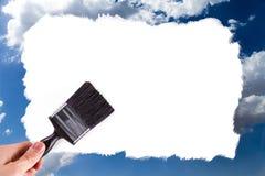 Ręka Maluje Cloudscape Obraz Stock