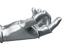ręka metalicznej Obrazy Royalty Free