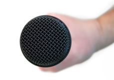 ręka mikrofon Zdjęcie Stock