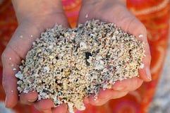 ręka piasku obrazy royalty free