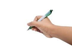 Ręka pisze Zdjęcia Stock