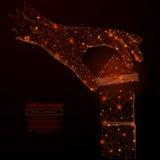 Ręka - podnosi up wierza Zdjęcie Royalty Free