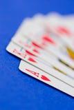 ręka pokera. Zdjęcia Royalty Free