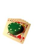 ręka pokera. obrazy stock