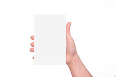 ręka pustej karty Obraz Stock