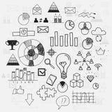 Ręka remisu doodle elementów biznesu scetches Obrazy Stock