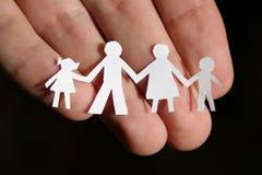 ręka rodziny papieru Zdjęcia Royalty Free