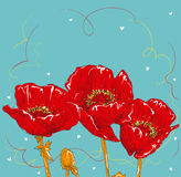 Ręka rysunku kwiat Zdjęcie Stock