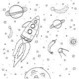 Ręka rysunku przestrzeni ilustracja Fotografia Stock
