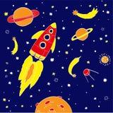 Ręka rysunku przestrzeni ilustracja Obrazy Stock