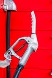 Ręka samochód z paliwem Obrazy Royalty Free