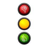 ręka semafor Ilustracji