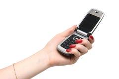ręka telefon Zdjęcia Royalty Free