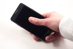 ręka telefon fotografia stock