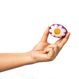 Ręka trzyma Easter jajko Zdjęcie Stock