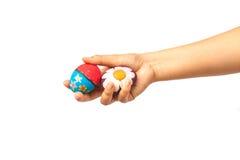 Ręka trzyma Easter jajko Obraz Stock