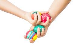 Ręka trzyma Easter jajko Obrazy Stock