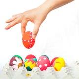 Ręka trzyma Easter jajko Fotografia Stock