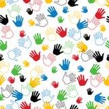 Ręka w bezszwowym wzorze lub tle Ilustracja Wektor