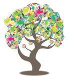 Ręka w drzewnym abstrakcie Zdjęcie Royalty Free