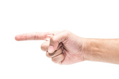 ręka wskazuje na ciebie fotografia stock