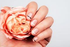 Ręka z macaron zdjęcie royalty free