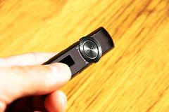 Ręka z odtwarzacz mp3 Zdjęcia Stock