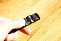 Ręka z odtwarzacz mp3 Fotografia Stock
