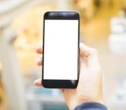 Ręka z telefon komórkowy Obrazy Stock