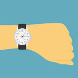 Ręka zegarek Zdjęcie Stock