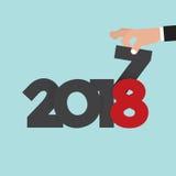 Ręka Zmienia 2017, 2018 wektor Zdjęcia Stock