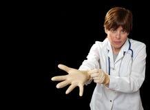 rękawica lateks za Zdjęcia Royalty Free