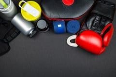 rękawice bokserskie czerwone Fotografia Stock