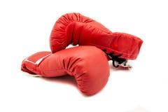 rękawice bokserskie czerwone Obraz Royalty Free