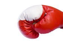 rękawiczki boksu czerwone. Obrazy Royalty Free