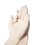 rękawiczki lateksowe Obraz Royalty Free