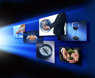 ręki biznesowa globalna strategia marketingowa Zdjęcie Royalty Free